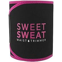 Sweet Sweat Waist Trimmer (Pink Logo) for Men & Women. Includes Free Sample of Sweet Sweat Gel!