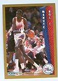 Manute Bol basketball card (Philadelphia 76ers Sudan) 1992 Fleer #167