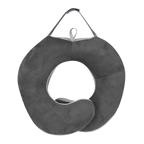 Travelon Wrap Around Travel Pillow, Light Dark Gray