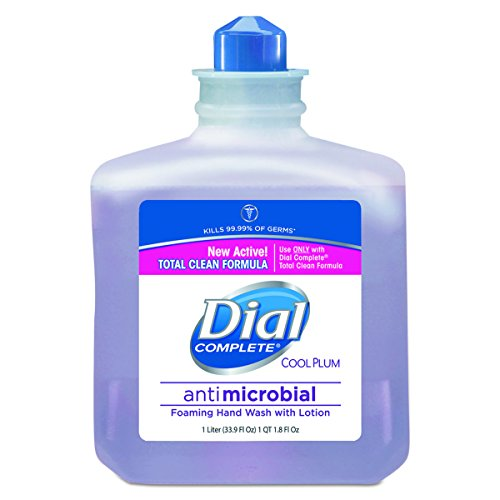 Dial Professional 81033CT Antimicrobial Foaming Hand Wash, Cool Plum Scent, 1000mL Bottle (Case of 4)