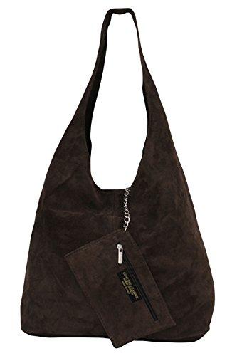 en courses cuir marron fonc pour Sac WL818 femme de qwzCgRP