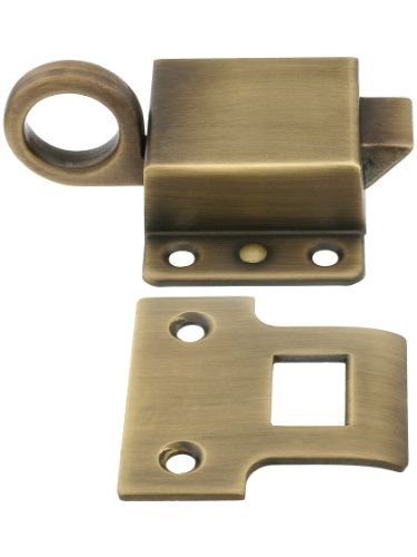 Solid Brass Transom Window Latch in Antique by Hand ()
