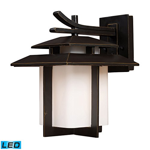 - Kanso 1 Light Outdoor Sconce In Hazelnut Bronze - LED Offering Up To 800 Lumens (60 Watt Equivalent) With Full Range Dimming. Includes An Easily Replaceable LED Bulb (120V).