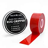 Rug Gripper Holder, 10 ft Double Sided Adhesive Carpet Tape to Keep The Area Rugs Pad in Place on Hard Floors for Non Slip