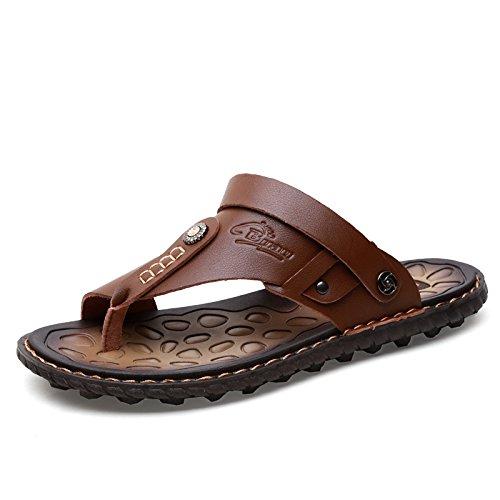 Flip - Flops, Männer - Mikrofaser - Sandalen Lässig Trends, Jugend, Die Sandalen, Beach - Schuhe,Khaki,Eu40