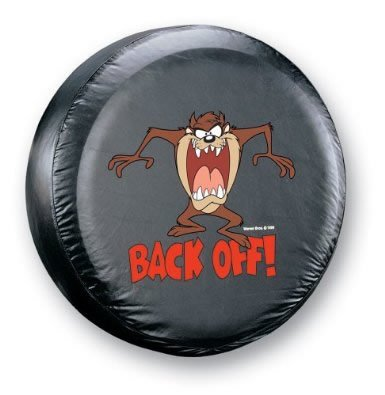 31' Tire (Taz Devil 'Back Off' Spare Tire cover Universal Size 27'31' Tires)