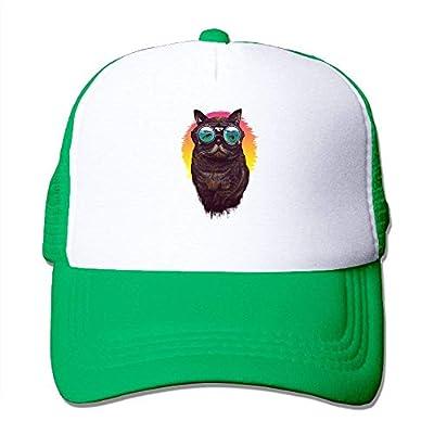 Cat On Vacation Adjustable Snapback Baseball Cap Mesh Trucker Hat from cxms