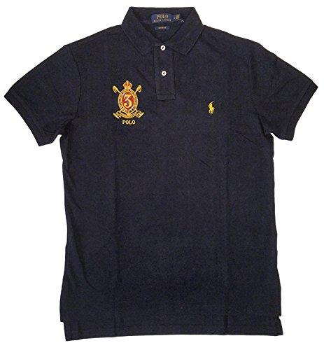 Custom Fit Crest Polo - Polo Ralph Lauren Men's Crest Logo Custom Fit Polo Shirt (XL, Aviator Navy)