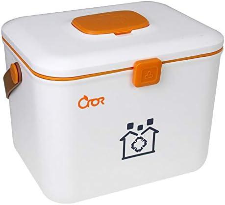 JYYX Caja de la Medicina Portable/Emergencia/Supervivencia/Paquete médico Kit de Primeros Auxilios Coche/Caso de almacenaje del hogar/envase,A: Amazon.es: Hogar