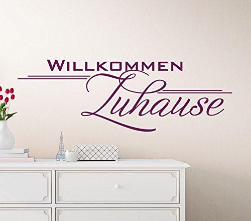 Wandtattoo Günstig G099 Spruch Willkommen Zuhause Wandaufkleber Wandsticker  Flur Dunkelrot (BxH) 45 X 15 Cm: Amazon.de: Küche U0026 Haushalt