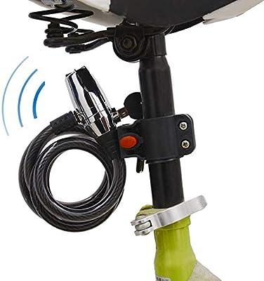 CARACHOME Candado Moto Alarma, Alarma Sonora 110 dB, Cerradura ...