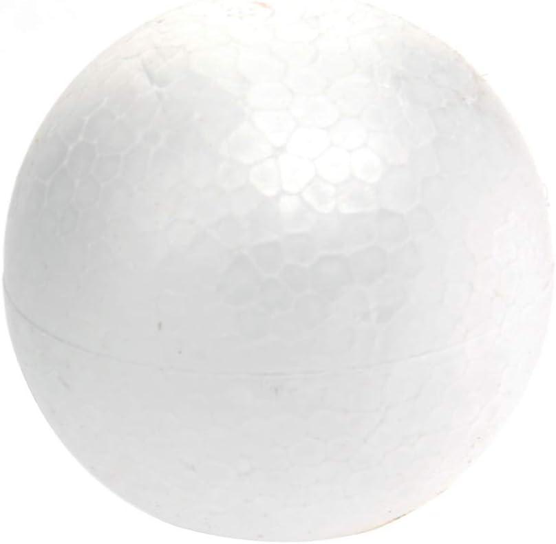Amosfun 10pcs Blanc Mousse balles polystyr/ène Artisanat polystyr/ène balles Art mod/élisation balles pour projets d/école de Bricolage 100pcs 4cm