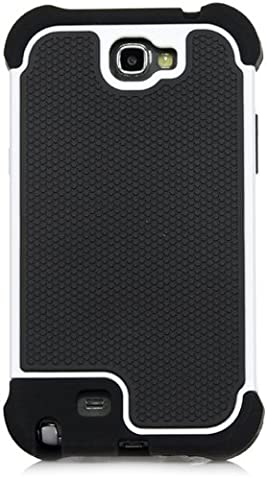 Galaxy Note 2 Case, iSee Case (TM) Heavy Duty Dual Layer Hybrid Protective Cover Case for Samsung Galaxy Note 2 II N7100 (Note2-3 in 1 Gray) (Galaxy Note 2 3 Layer Case)