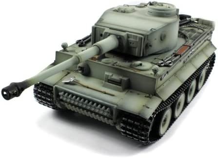 Taigen German Tiger 1 Electric Airsoft RC Tank Full Metal HC Series World War II WWII 2.4GHz Big 1:16 Scale Ready To Run RTR, Shoots Airsoft BB's
