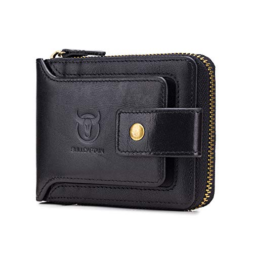 BULLCAPTAIN Genuine Leather Wallet Capacity