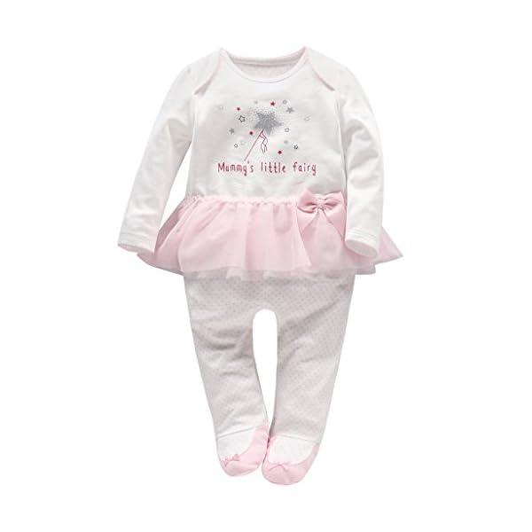 Bambino Pagliaccetto in Cotone Ragazze Jumpsuit Footies Pigiama Neonato Tutina Tutu Outfits 1