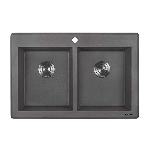 Ruvati 33 x 22 inch Dual-Mount Granite Composite Double Bowl