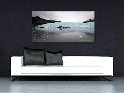 Alaska Art on CANVAS Aialik Glacier Photo Print Panoramic Wall Decor Grey Nature Photography Teal Kenai Fjords National Park Ready to Hang 8x16 10x20 12x24 16x32 18x36 - On Stores Magnificent Mile The
