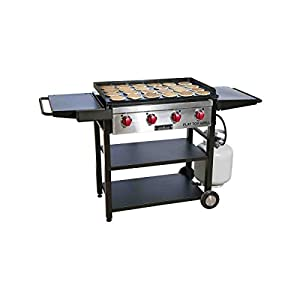 4. Camp Chef, Best Professional Restaurant Grade Cooking Flat Tog Grill with Grilling Surface and Side Shelves FT600