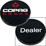 Trademark 10-COP500 Poker Copag Usa Delaer Button, Black