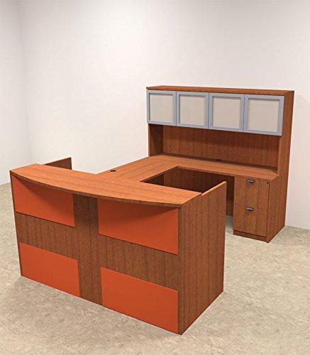 5pc U Shaped Modern Acrylic Panel Office Reception Desk, #OT-SUL-RO29 by UTM