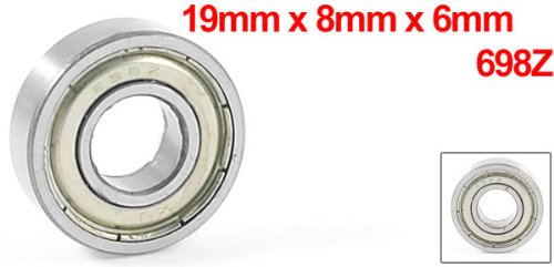 0.75 Width uxcell a13050600ux0268 698Z Metal Sealed Deep Groove Ball Bearing 19mm x 8mm x 6mm 0.3 Metal