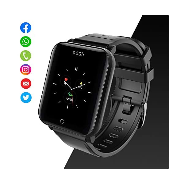 41z8vRZkdOL GOQii Smart Vital Fitness SpO2, body temperature and blood pressure tracker with 3 months personal Coaching