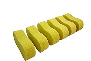 Valiry Home Auto Car Windshield Sponge Wash Washing Pad Cleaning Natural Soft Multi-purpose cleaner Tools kitchen Sponges (6 Pcs)