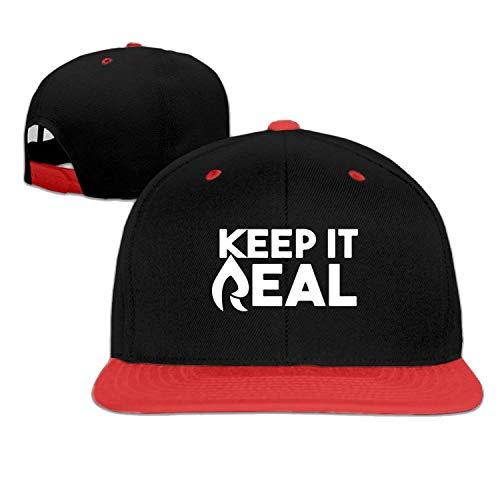 59475b9e3b7 Bizwheo Baseball Cap Hip hop hat Faze Rain Keep it Real hat Red (5 Colors
