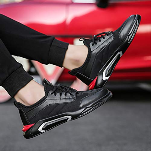 Hombres Ligero Outdoor Negro Entrenadores Running Casual Calzado Zapatillas Moda Lona Encaje Senderismo Zapatos Transpirable Casuales F8Fqr
