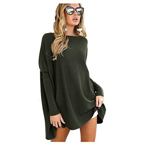 3cd130a467ca5 TOOGOO(R) Women s New Fashion Long Sleeve Dress Casual O-Neck Batwing Sleeve
