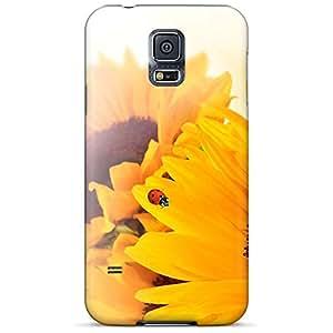 samsung galaxy s5 Fashionable phone cover skin pattern Ultra sunflower ladybug fun