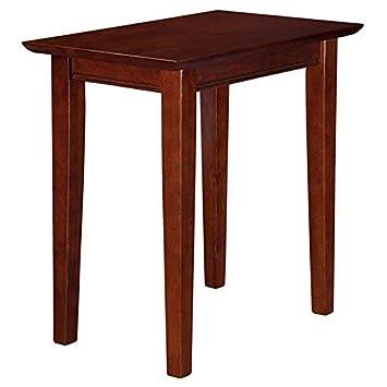 Atlantic Furniture SHA104911310AH Shaker Chair Side Table, Walnut, 22 x 14