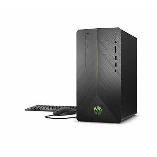 HP Pavilion Gaming Desktop Computer, AMD Ryzen 3 2200G, AMD Radeon RX 550, 8GB RAM, 1TB hard drive, Windows 10 (690-0010, Black)
