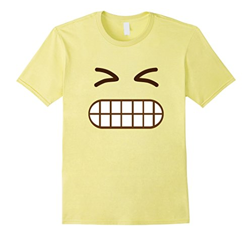 The A Team Halloween Costume Ideas (Mens Confused Emoji Face Costume T-Shirt for Halloween Group Team Large Lemon)
