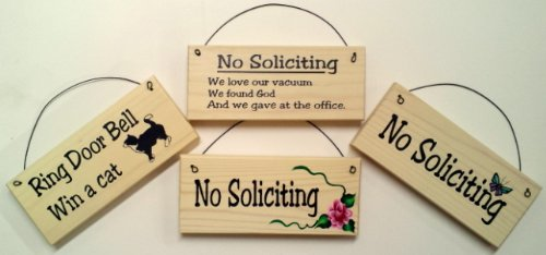 NO SOLICITING SIGN-clever