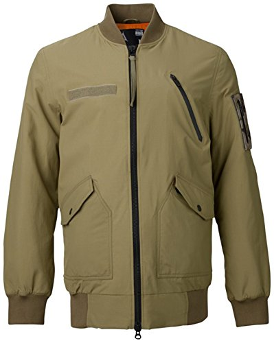 Burton UAB MA-1 Flight Jacket - Men's Field Olive, - Bomber Burton