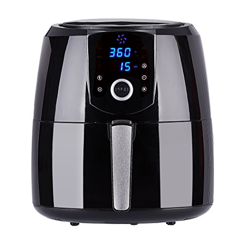 Nattork Air Fryer xl Touch Screen 5.5 QT with 7 Cook Presets, Electric Hot Air Fryer with Keep-Warm Function & Recipes