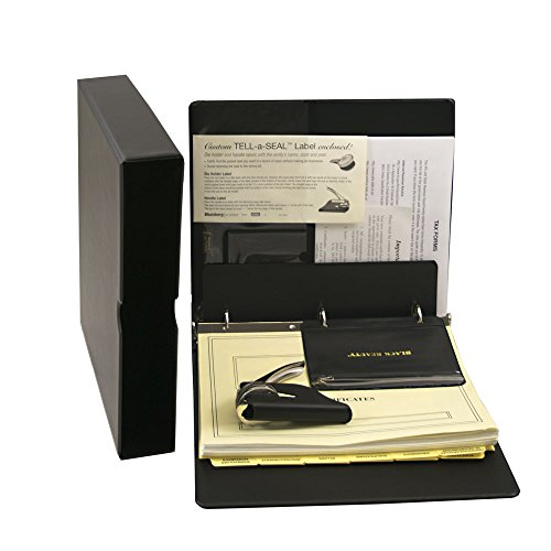 Blumberg Black Beauty Corporate Kit with Records Binder, Corporate Seal, Certificates with Stubs, Blank Minute Paper and More (Corporate Kit, Black) -