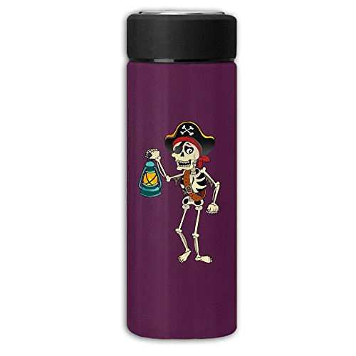 [Skeleton Pirates Lantern Vacuum Cup Stainless Steel Frosted Travel Mug With Tea Leaf Filter,Commercial Vacuum Bottle] (Space Outlaw Costume)