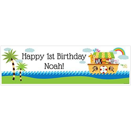 Noah's Ark 1st Birthday 5 Ft. Large Personalized (Personalized Noahs Ark)