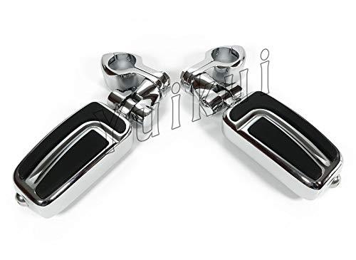 YUIKUI RACING オートバイ汎用 1-1/4インチ/32mmエンジンガードのパイプ径に対応 ハイウェイフットペグ タンデムペグ ステップ HONDA 1800 VALKYRIE RUNE 2004-2005等適用   B07PS54D58