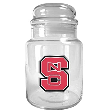 NCAA North Carolina State Wolfpack 31-Ounce Glass Candy Jar - Primary Logo