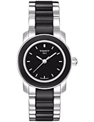 Tissot Womens T0642102205100 Cera Black Dial Ceramic Watch