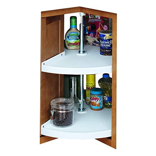 Rev-A-Shelf 28 in White Polymer Pie-Cut Lazy Susans 2-Shelf,