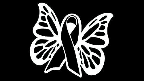 Bluegrass Decals Melanoma Skin Cancer Awareness Butterfly Ribbon Decal Sticker Art