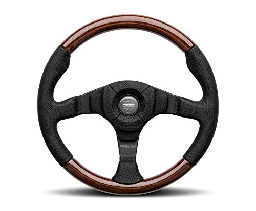 MOMO Steering Wheel Dark Fighter Wood Black Leather 350mm Genuine VDFIGHTER35W (Leather Prototipo)