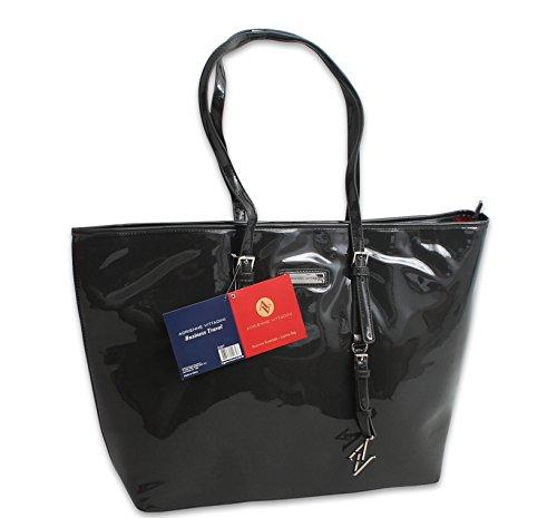 Adrienne Vittadini Multi Purpose Designer Handbag AV-1293(Black) by ADRIENNE VITTADINI