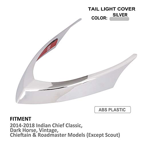 Motorcycle Tail Light Cover Rear Lamps Top Trim Cover – Indian Chief Chieftain Roadmaster Tail Light Cap 14-18