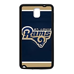 Handsome tangible design St. Saint-Louis Rams Logo Skin Samsung Galaxy note 3 Case Cover (Laser Technology)